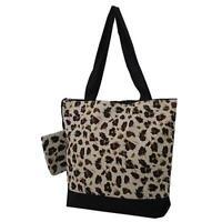 Cheetah Animal Print Purse Totebag w/attached coin bag NGIL NWT Free Shipping