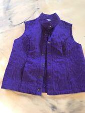 Christopher & Banks Size Pl Petite Large Purple Vest