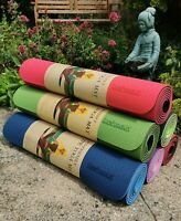 Professional Double Layer Non Slip Yoga Mat Gym Pilates Fitness Stretch Exercise