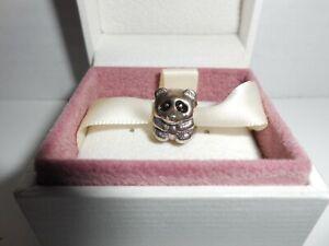 Genuine Pandora Sterling Silver 925 Charm Panda NIB
