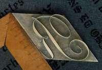 "Riesiges ""R"" Messingbuchstabe Initial Prägen Buchbinder Monogramm Vergolden rar."