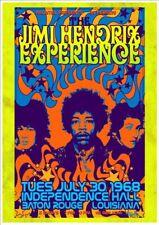 "12"" x 18 "" Jimi Hendrix At Baton Rouge LA Concert Poster"