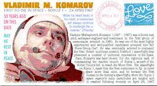 COVERSCAPE computer generated 50th anniversary cosmonaut Vladimir Komarov cover