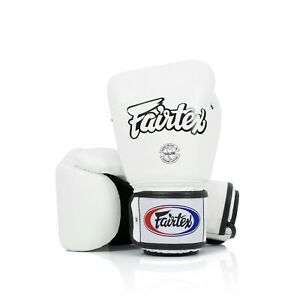 Fairtex Muay Thai Boxing Gloves BGV1 White Training Sparring Kick MMA K1 12 - 16