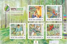 SOUTH AFRICA - 2015 - XIV World Forestry Congress. Sheet, 5v. Mint NH