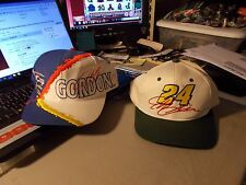 LOT OF 2 CHASE AUTHENTICS #24 JEFF GORDON HATS 1991 CHAMPION AND QUAKER STATE