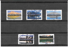 "FRANCE 2017."" REFLETS - PAYSAGES DU MONDE "" LOT DE 5 TIMBRES  AA CACHETS RONDS"