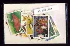 Surinam 25 timbres différents