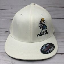 RED BULL Soapbox Race Los Angeles off white Flexfit hat Sz L-XL Embroidered