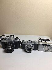 Pentax Asahi-Kodak 35-Fujifilm Nexia 3 Camera Lot- All Untested