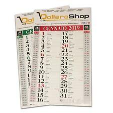 3x Calendario Personalizzato DOLLAROSHOP 2019 Olandese - 12 fogli 29x47 3pz
