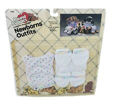 VINTAGE 1986 POUND PUPPIES NEWBORNS OUTFIT DOG CLOTHING SEALED PACKAGE BOOTIES