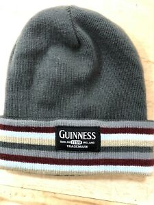 Guinness 1759 Dublin Ireland striped Knit Hat Beanie One Size fits all FREE SHIP