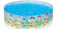 INTEX Beach Days Snapset Instant Swimming Pool  Kids Fun Play Outdoor 5'X10""
