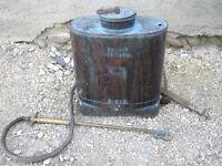 Ancien pulvérisateur cuivre ECLAIR VERMOREL breveté SGDG déco chalet art pop
