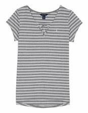 Nautica Girls' Little Stripe Top with Tie-Front Size 5