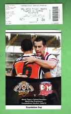 #D351.  2012 RUGBY LEAGUE FOUNDATION CUP PROGRAM &  TICKET C - 20