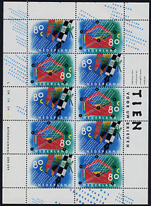 Netherlands 845a sheet MNH Letter Writing Day