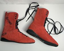 Womens 7 Men's Size 5.5 OTOMIX Red Suede Wrestling MMA Boxing Sneakers Boots