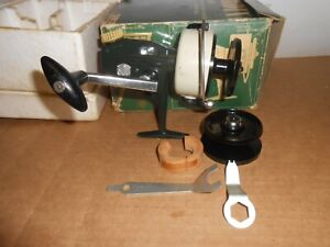 vintage fishing reel zebco cardinal sweden open face spinning w/box