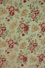 Fabric Vintage French material 1930's faded green floral cutting