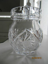 CRYSTAL JAM/HONEY POT WITH LID LEAD CRYSTAL