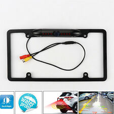Car Rear View Backup Camera 8 IR Night Vision US License Plate Frame CMOS Cam