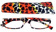Mr.Reading Glasses [+1.00] 1 Plastic Frame Animal Design Reader Match Pouch 1.00