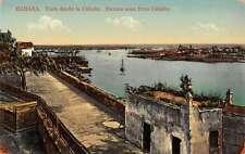 Havana Cuba panoramic birds eye view city from Cabana antique pc Z21978