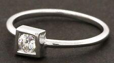 Tiffany & Co. Gehry 18K WG .20CT VS1/E diamond wedding/engagement ring w/ box