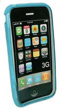 Silikon TPU Handy Cover Case Schutzhülle Hülle Blau für Apple iPhone 3  3G  3Gs