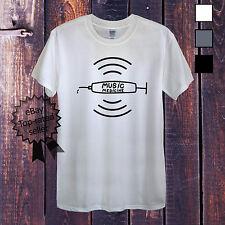 MUSIC DRUG T-Shirt For Men Women or Unisex Medicine NHS Pop Rock Rap Addicted UK