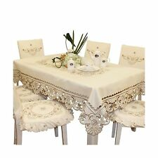 Brown flower embroidered lace small coffee table tablecloth rec... Free Shipping