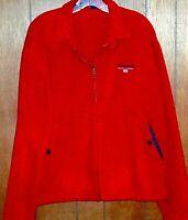 POLO SPORT Ralph Lauren Men's Vintage Full Zip Fleece Jacket Size L Red USA Made