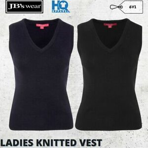 LADIES KNITTED CORPORATE VEST WOMEN FORMAL BUSINESS FASHION OUTER WEAR SIZE 8-24