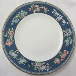 Set of Six (6) Wedgwood Blue Siam 20.5cm Salad/Small Dinner Plates (unused)