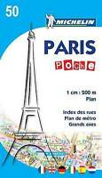 Paris Poche - Plan 50 (Michelin City Plans),Michelin,Excellent Book mon000006363