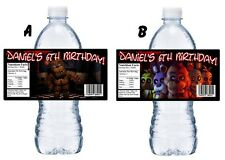 20 FIVE NIGHTS AT FREDDY'S BIRTHDAY PARTY FAVORS WATER BOTTLE LABELS WRAPPERS