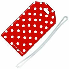 Stray Decor (Polka Dots (Red and White)) Luggage Tag / Travel ID Label