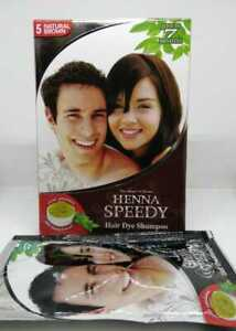 Henna Speedy Hair Dye Shampoo Natural Brown 30ml FREE SHIPPING