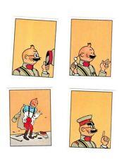 Herge Tintin Panini 1989 autocollants 143-144-145-146