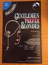 GENTLEMEN PREFER BLONDES Encores! Megan Hilty (SMASH) Window Card Poster MINT