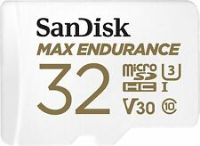SanDisk 32GB Max Endurance MicroSDHC Class 10 U3 V30 Micro SD Card For Dashcam