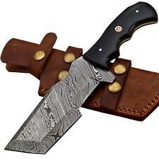 Custom Twist Damascus Steel Tanto Tracker Hunting Knife EE28 Micarta Handle
