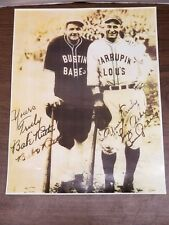 11 x 14 REPRO BABE RUTH LOU GEHRIG Signed Baseball Photo 1927 Charity Evenet