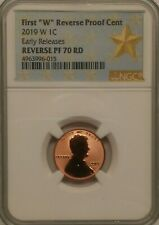 """LIVE !!2019 2nd /""""W/"""" Penny NGC PF70 RD UCAM Rev Proof First Releases Lincoln"""