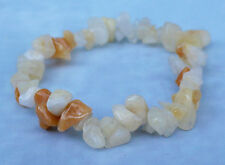 Natural Genuine Yellow Jade Crystal Gemstone Bracelet Reiki Blessed NEW
