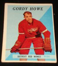 GORDIE HOWE 1958 Topps #8, Detroit Red Wings, Hockey Card Printed in USA