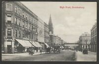 Postcard Brondesbury near Kilburn London early view of High Road