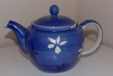 Whittard of Chelsea Tea Clipper  Blue with White Flowers  15 cm Tea Pot